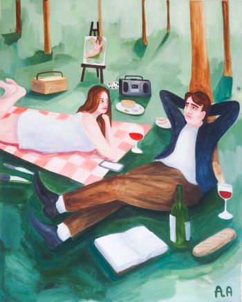 Audun Alvestad, La Pause Sur L'herbe, 2019
