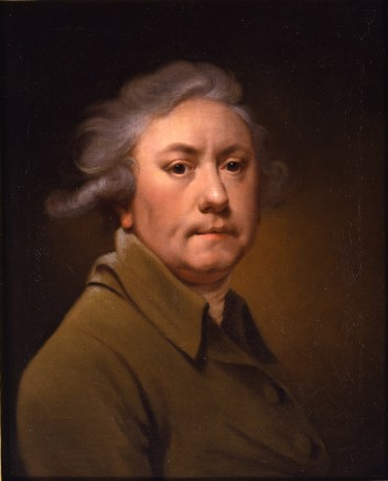 Joseph Wright of Derby, Self-portrait aged 59 in a grey coat