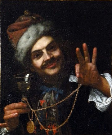 Pietro Bellotti, A portrait of the artist as laughter