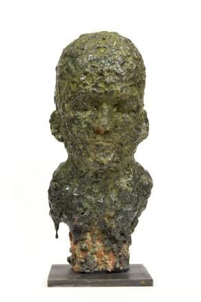 Tommi Toija, Self-portrait Covered in Moss, 2017