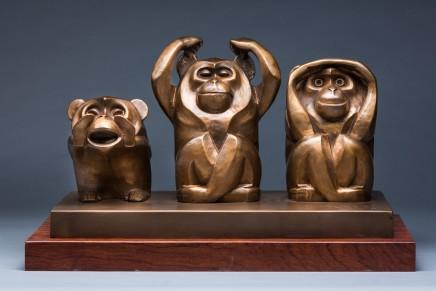 Huang Yongyu 黃永玉, 猴 Monkey, 2016