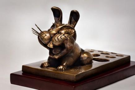 Huang Yongyu 黃永玉, Rabbit 兔, 2011