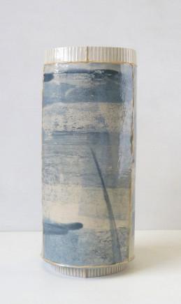 Emily-Kriste Wilcox, Tall Large Vessel, Blue Stripe, 2017