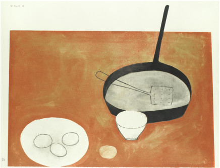 William Scott RA, Still Life with Frying Pan and Eggs, 1973