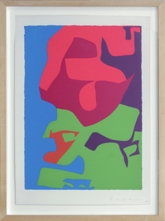 Patrick Heron CBE, First Vertical Screenprint : 20 from 'Shapes of Colour' suite, 1978