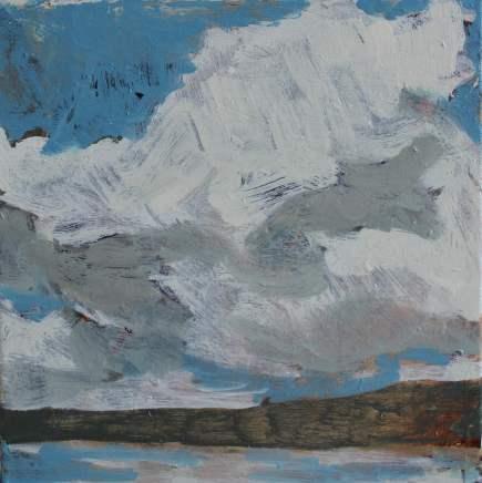 Sara Dudman RWA, Cumulus Cloud (Towards Kynance Cove) Study 1, 2018