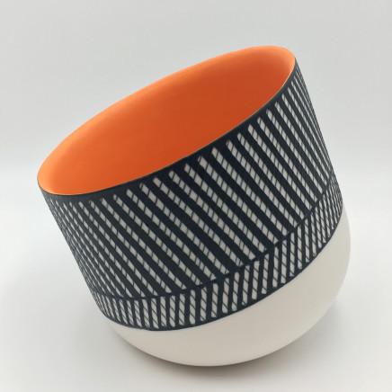 Lara Scobie, Tilted Bowl with Orange Interior, 2019
