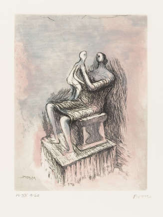 Henry Moore OM CH, Mother and Child XX (Cramer 690), 1983