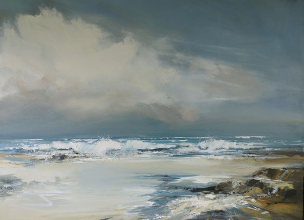 Jenny Hirst, Blustery on Gwithian, 2017