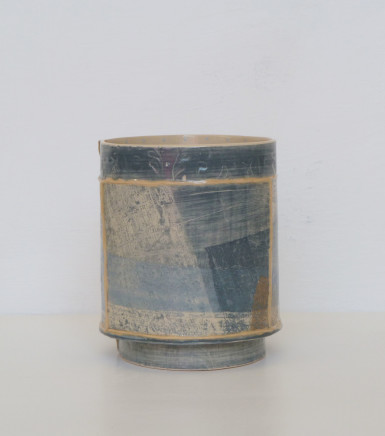 Emily-Kriste Wilcox, Small Vessel, Navy Print with Brown Accent, 2017