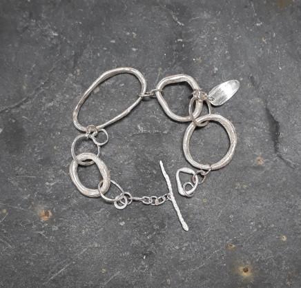 Lucy Coyne, Silver Pebbles Bracelet, 2017