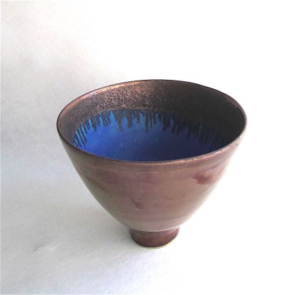Sarah Perry, Copper Lustered Blue Pool Bowl, 2018