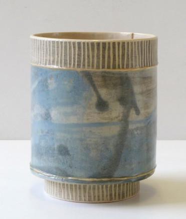 Emily-Kriste Wilcox, Small Vessel, Navy Fine Stripe, 2017