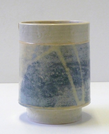 Emily-Kriste Wilcox, Small Vessel, Pale Blue Print with Yellow Accent, 2017