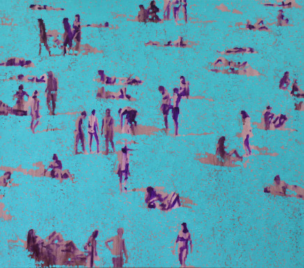Nick Bodimeade, Shifting Turquoise II, 2017