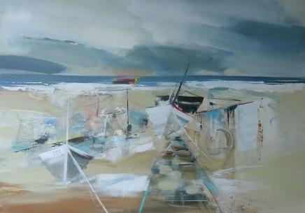 Jenny Hirst, Boats on the Sand, 2019