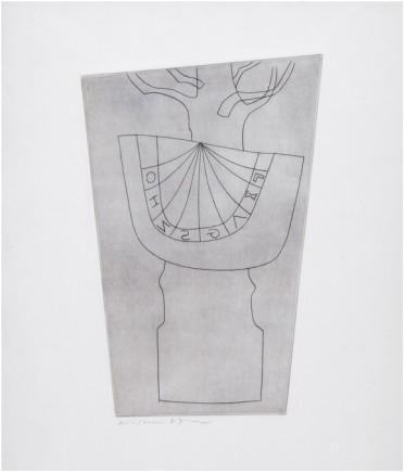 Ben Nicholson OM, Turkish Sundial and Tree (C.130), 1967