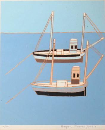 Bryan Pearce, Two Fishing Boats, 1983