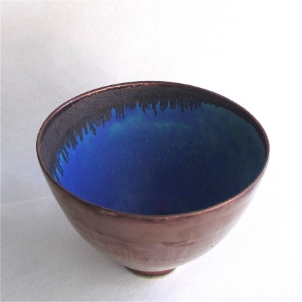 Sarah Perry, Copper Lustred Blue Pool Bowl, 2018