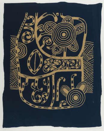 Alan Davie, Blue Incantation, 1999