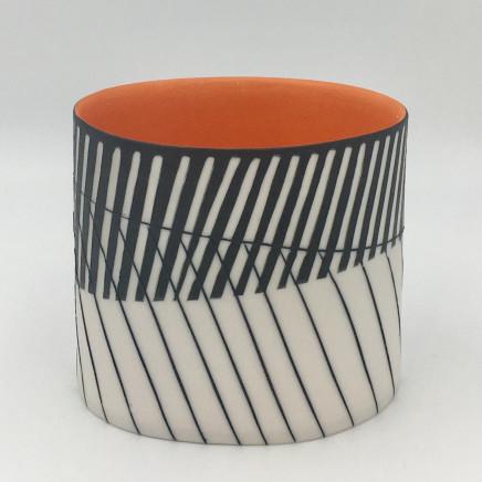 Lara Scobie, Oval Vessel with Orange Interior, 2019