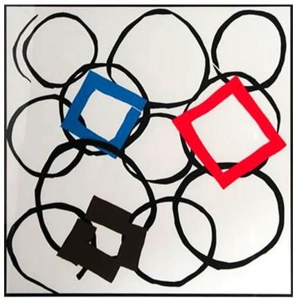 Sandra Blow RA, Squares in Orbit, 2000