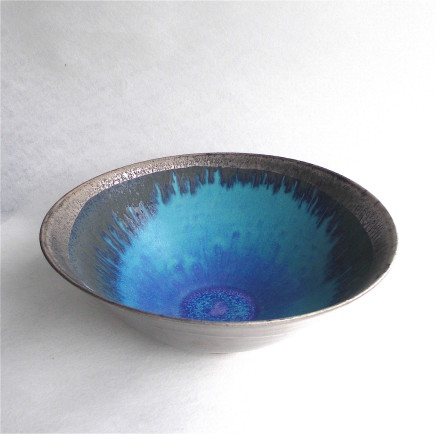 Sarah Perry, Silver Lustred Blue Pool Bowl , 2019