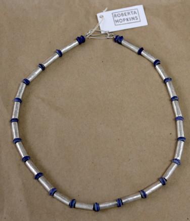 Roberta Hopkins, Lapis Lazuli and Silver Tubes, 2018