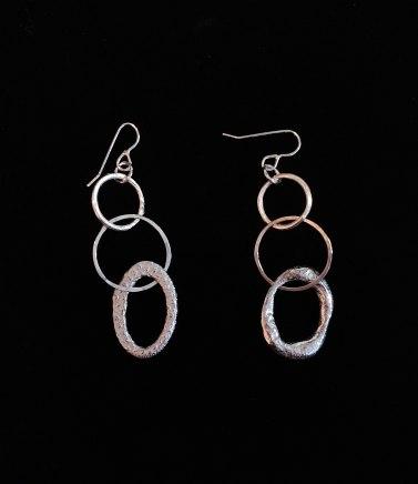 Lucy Coyne, Silver Earrings 3 links