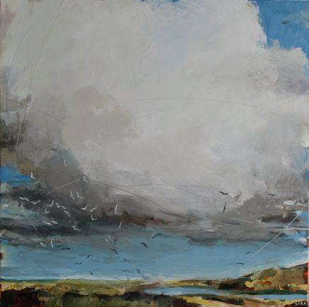 Sara Dudman RWA, Herring Gulls (Gwithian Green) 1, 2018