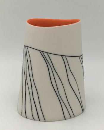 Lara Scobie, Oval Vase with Wave Pattern , 2019