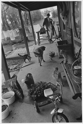 Larry Towell, Lambton County, Ontario, Canada [Messy Front Porch], 1996