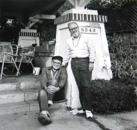 Robert Giard, Harry Hay with John Brunside, January 1989