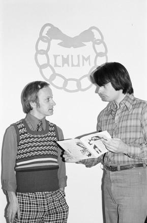 Sunil Gupta, Tony Farebrother and friend, C.H.U.M., circa 1974