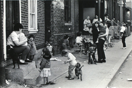 Ian MacEachern, Families on Sidewalk, Treffan Court, Toronto, ON, 1968