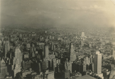 Alexander Artway, Looking toward Hell Gate Bridge from roof of Radio City, November 11, 1934