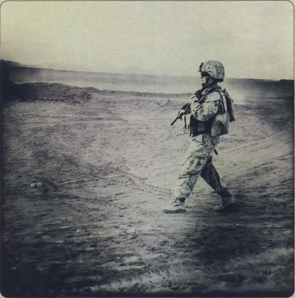 Rita Leistner, Wide shot of female Marine in desert, 2011