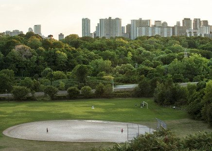 Robert Burley, Lower Don Parklands from Riverdale Park East, 2012