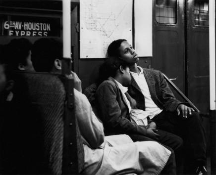 Dave Heath, NYC [couple in subway], circa 1957