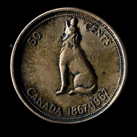William Eakin, Colville wolf 6275 (half dollar), 2013