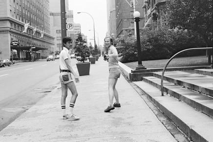 Sunil Gupta, Sunil and Rudi on Sherbrooke Street West, circa 1975