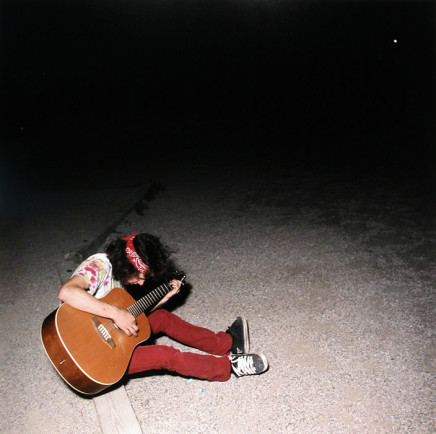 Jaret Belliveau, Untitled [playing guitar outdoors], 2006