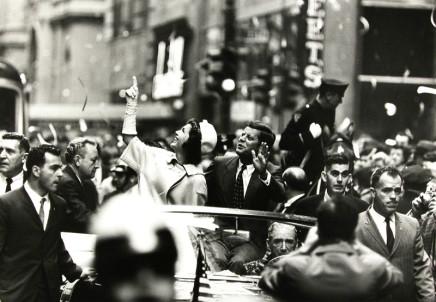 George S. Zimbel, Jacqueline + John F. Kennedy, NYC, 1960
