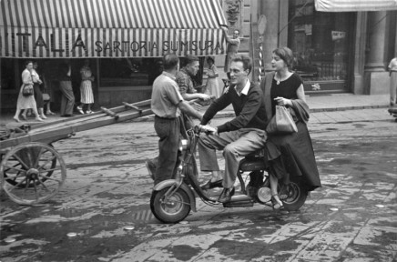 Ruth Orkin, Jinx on Motorcycle, 1951