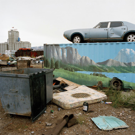 Phil Bergerson, Untitled, Pocatello, Idaho [car, dumpster, mattress], 2007