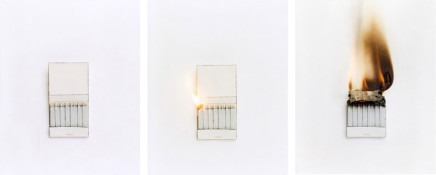 Cynthia Greig, Representation No. 16-18 (matchbook), 2003
