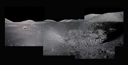 Michael Light, Composite of Harrison Schmitt at Shorty Crater; Note Orange Soil; Photographed by Eugene Cernan, Apollo 17, December 7-19, 1972, 1999