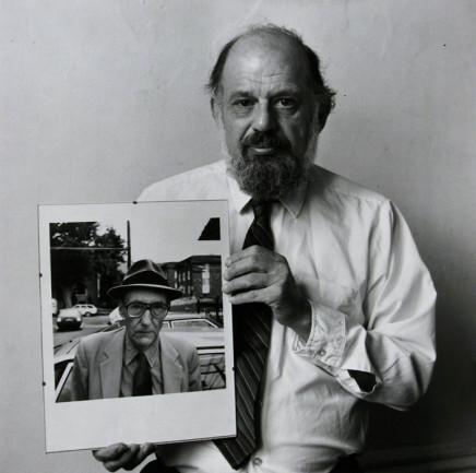 Robert Giard, Allen Ginsberg with his own portrait of Burroughs, 1986