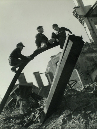 Fritz Spiess, Boys Playing in Ruins, Munich, Germany, 1948-49