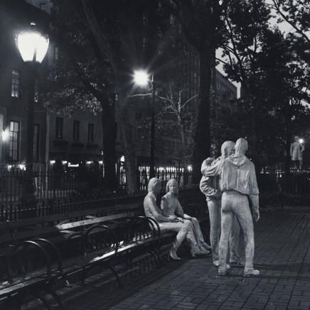 Robert Giard, Sheridan Square, George Segal Sculptures, NYC,